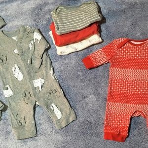 Winter Polar Bear Sleepwear with Newborn Set